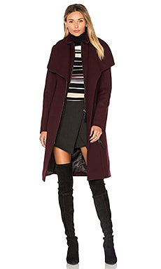 Nori Coat in Bordeaux
