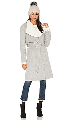 Iza Coat in Grey & Off White