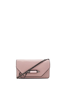 Zoey Mini Crossbody in Blush & Gunmetal