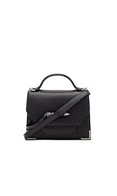 Keeley Crossbody Bag in Black & Gunmetal