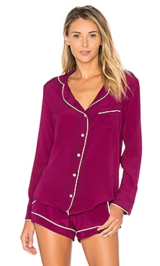 Bardot Top in Berry