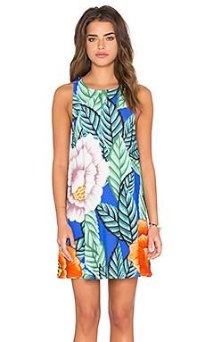 Swing Dress in Flora Blue