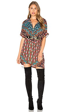 Bolnisi Rug Tunic Dress in Orange Multi