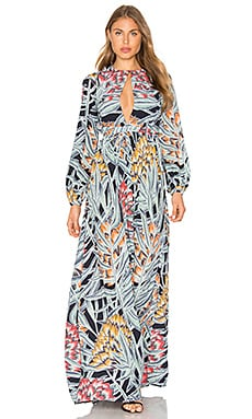 Herbarium Keyhole Maxi Dress in Charcoal
