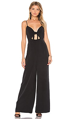 Tie Front Jumpsuit in Black
