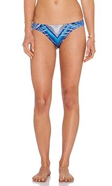 Low Rise Bikini Bottom in Rising Palm Blue