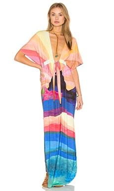 Long Dashiki Dress in Landscape