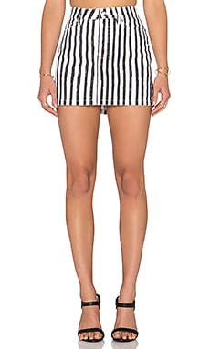 Icon Mini Skirt in Yard Stripe