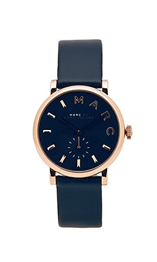Baker Watch in Navy & Gold