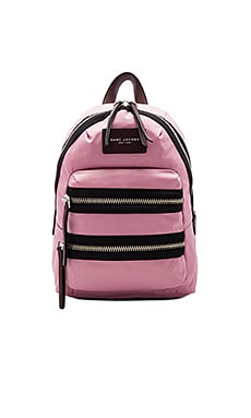 Nylon Biker Mini Backpack in Pink Fleur