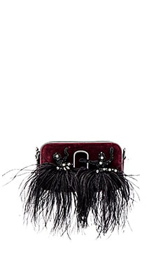 Snapshot Velvet Small Camera Bag in Bordeaux