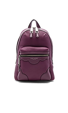 Haze Leather Backpack in Iris