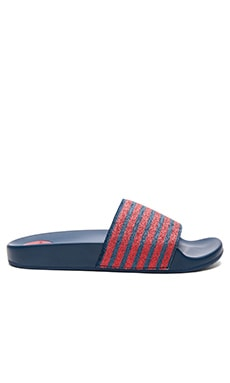 Tech Cooper Sport Slide in Navy & Red