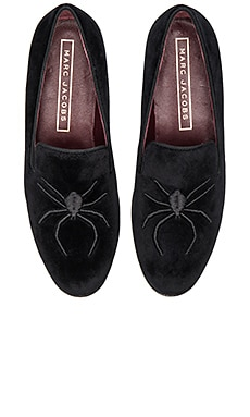 Zoe Embellished Spider Loafer in Black