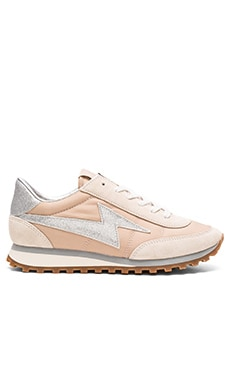 Astor Lightning Bolt Sneaker in Nude