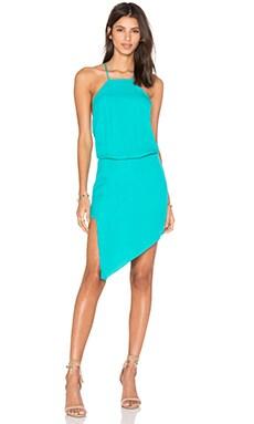 Paneled Midi Dress in Aqua