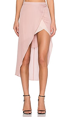 Skirt with Contrast Slip in Blush