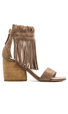 Morgan Fringe Sandal In Taupe