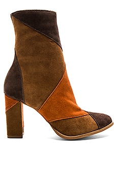 Jigsaw Booties in Brown Multi