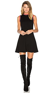 High Neck A Line Dress en Darkest Black