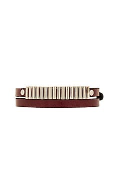 Mini Bullets Wrap Bracelet in Burgundy