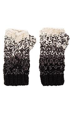 Seeded Ombre Fingerless Glove in Black