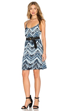 Azure Crepe Print Cami Swing Dress in Nocturnal