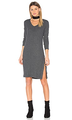 Snap Midi Dress in Charcoal