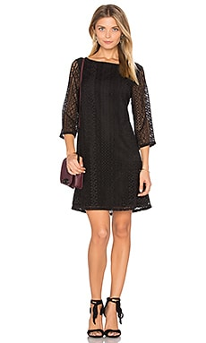 Lace Shift Dress in Black