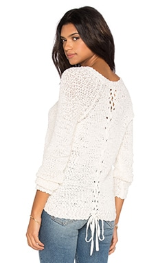 Nubby Boucle Pullover in Chalk