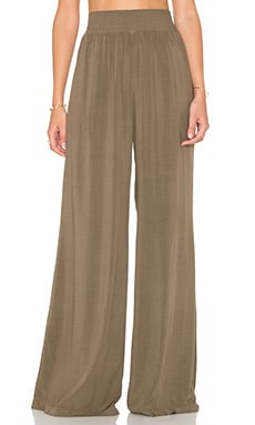 High Waisted Wide Leg Pant in Caper