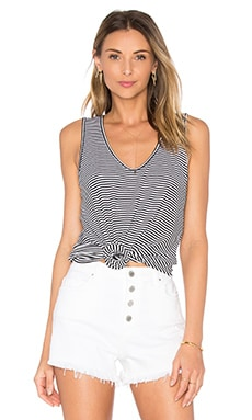 Amalfi Ribbed Stripe Tank in White