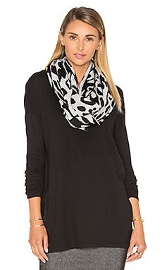 Big Cat Eternity Scarf in Black