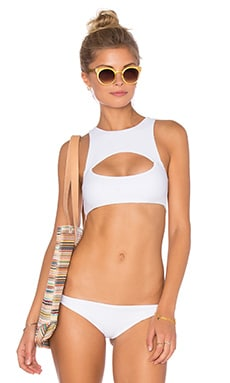 Marrakesh Cutout Bikini Top in Foam