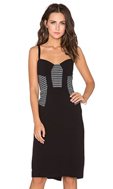 Mesh Bustier Dress in Black & White
