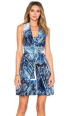 Elisa Cross Back Dress in Blue