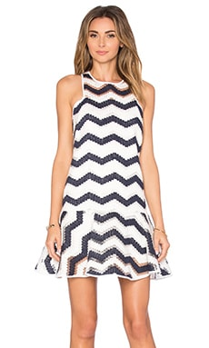 Jillian Dress in Navy & White