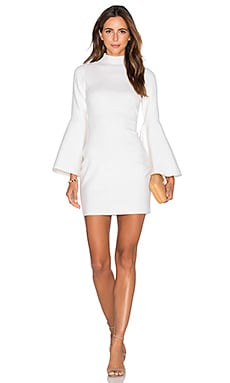 Swing Sleeve Dress in White