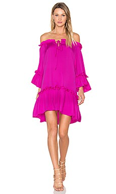 Silk Santorini Dress in Fuchsia