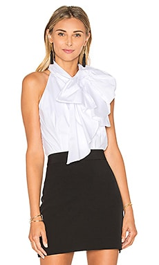 Poplin Bow Blouse in White