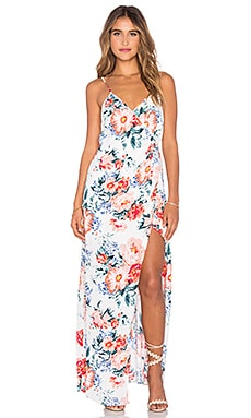 Little Blooms Wrap Dress in Multi