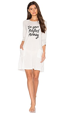Perfect Morning Dress in White & Gray Marle