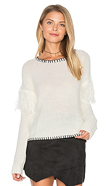 Miles Apart Sweater in White