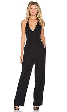 Take Care Backless Jumpsuit in Black