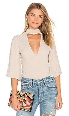 Rib Flare Sleeve Reversible Top in Natural