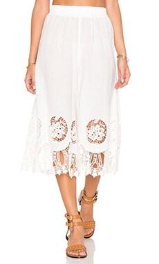 Splendor Falls Culottes in White