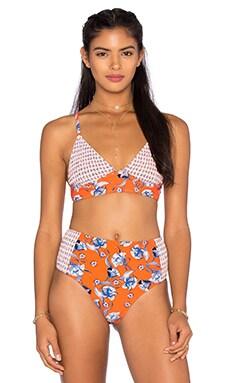 Floating in The Tropics Bikini Top in Multi