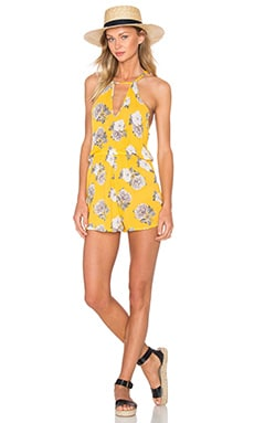 Spread Like Wildflowers Romper in Multi Yellow