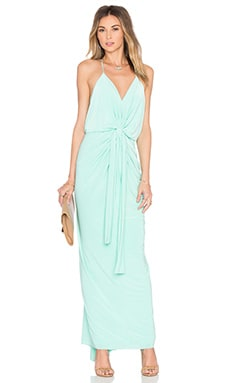 Domino Tie Front Maxi Dress in Mint