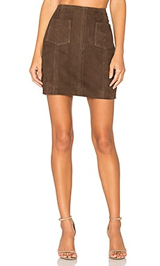 Jipsone Suede Skirt in Tobac